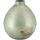 Glass ball vase Soraka, D10cm, H13cm, green